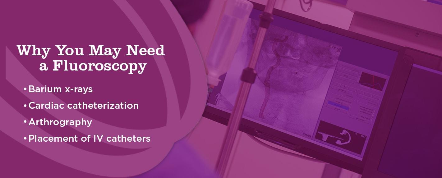 Why you may need a fluoroscopy