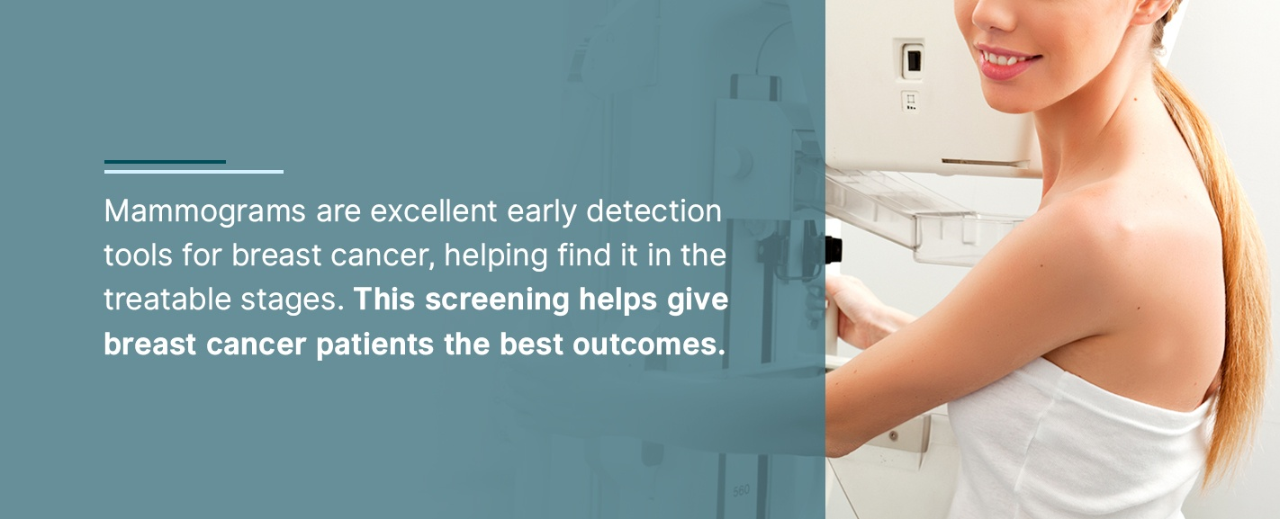Mammograms are excellent early detection tools