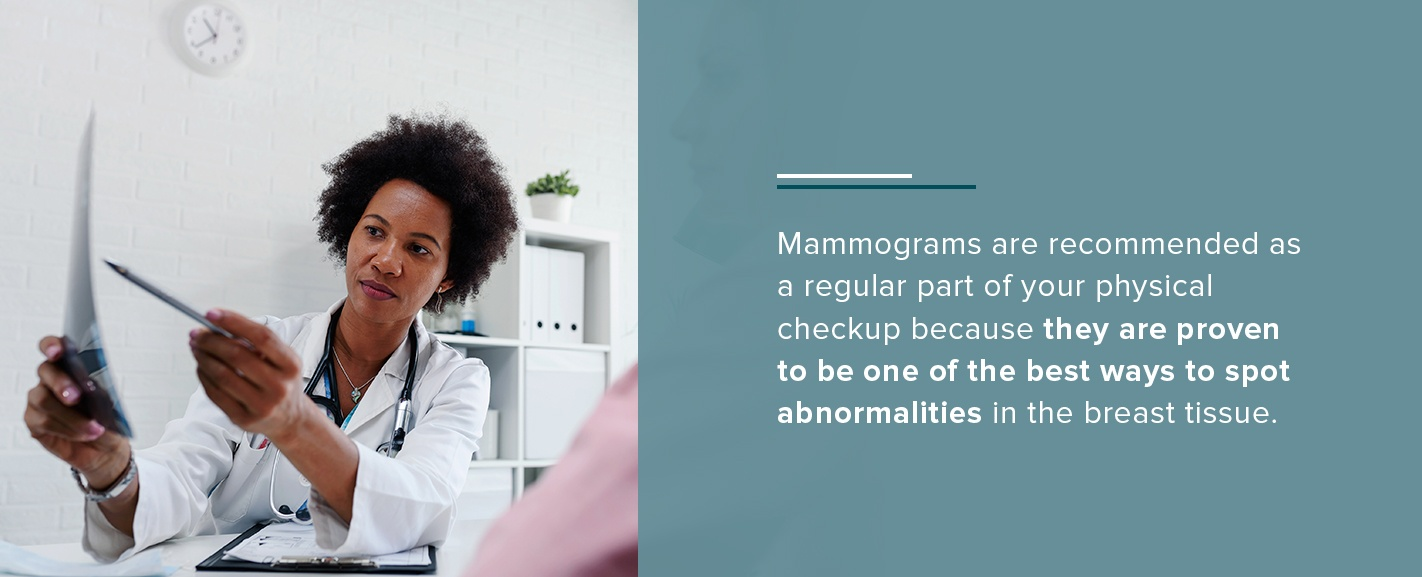 Mammograms recommended regularly